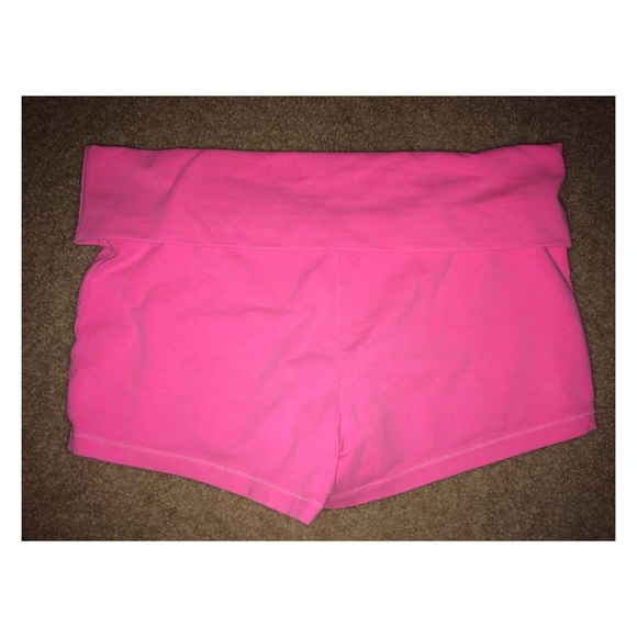 Neon Pink Yoga Shorts From Angela's