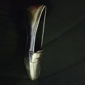 ZARA Silver loafers