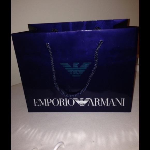 Emporior Armani Handbags - EMPORIO ARMANI PAPER BAG BLUE 18cc037eb9855
