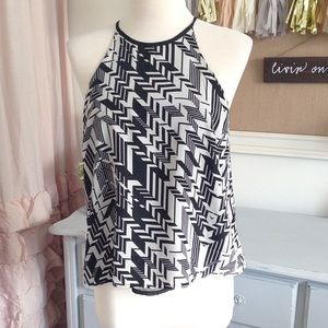 Charlotte Russe Tops - Zig Zag Halter Style Tank