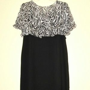 Dress Zebra Bodice, Black Skirt size 20