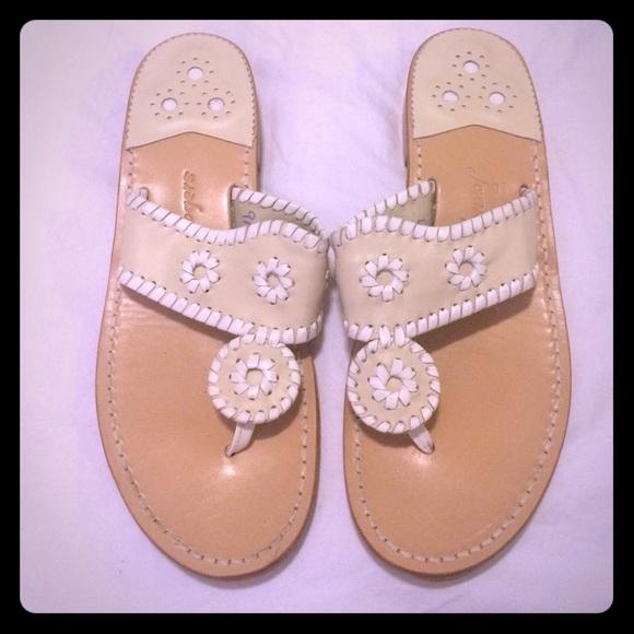 7c636a61eb43 Jack Rogers Shoes - Jack Rogers Palm Beach sandal in Bone White sox 9
