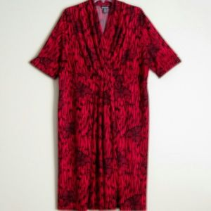 Red & Black Knit Dress size 20 plus size