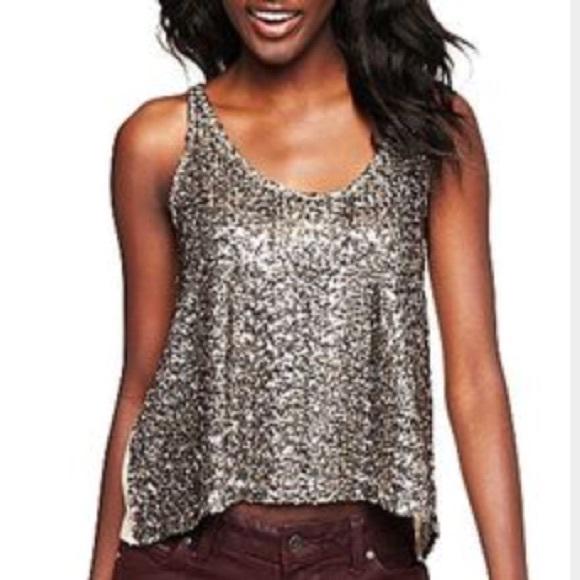 80% off Tops - Silver GOLD sequin tank top shirt cami ...