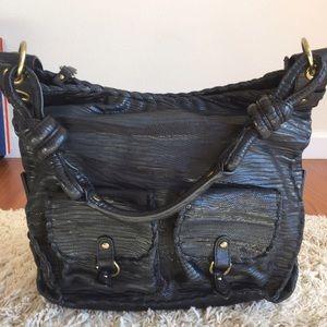 Isabella Fiore Handbags - Isabella Fiore real Peyton skin gray an black bag