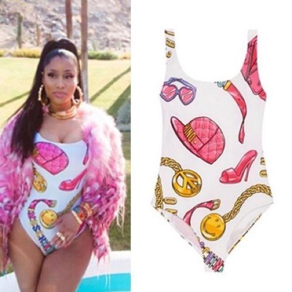 698c8b2161 Moschino Swim | 2015 Sexy Nicki Minaj One Piece Bodysuit Suit | Poshmark