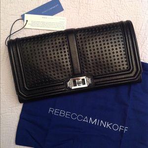 Rebecca Minkoff Handbags - Rebecca Minkoff Love Leather Clutch w/ Strap