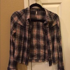 Free People Flannel (black and red)