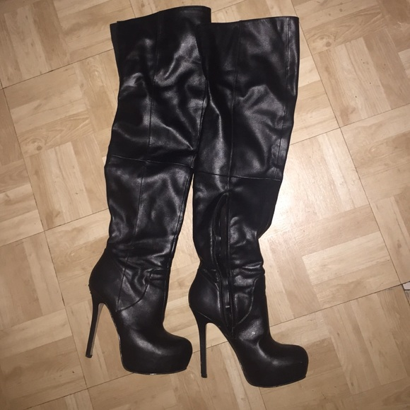 75 aldo boots thigh high boots from amanda s closet