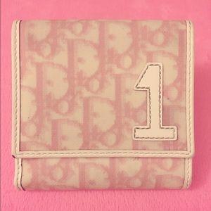  Dior monogram wallet 