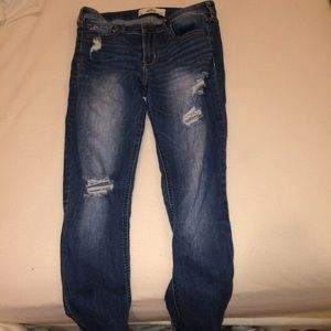 36% off Hollister Pants - high waisted ripped jeans from ...