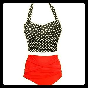 Other - NWOT Retro Inspired High Waisted Bikini