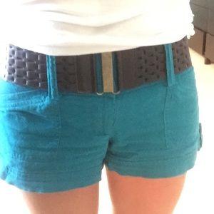 Stoosh Other - Blue/green linen shorts