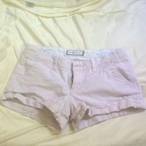 Abercrombie and Fitch light pink shorts