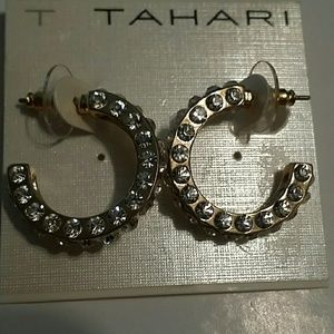 Tahari Jewelry - Gold Hoop Earrings