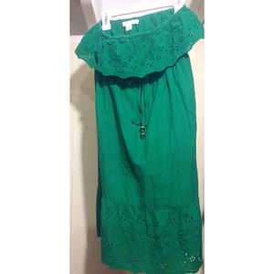 Sleeveless Green Lace F21 Dress