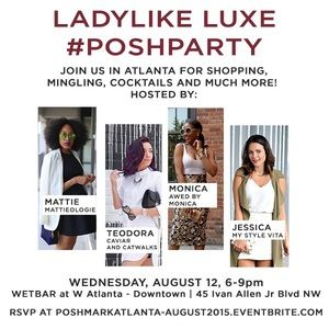 You're Invited to Atlanta's FIRST Live Posh Party!