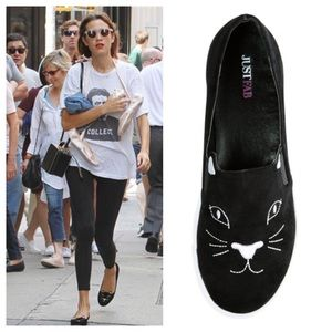Justfab cat slip on sneaker shoes 7.5