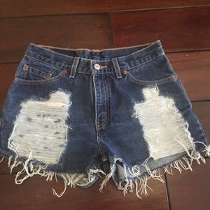 "Denim - Levi's ""One of a Kind"" Denim Shorts"