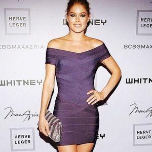 Herve Leger Dresses & Skirts - Herve Leger Off-the-Shoulder Mini Dress