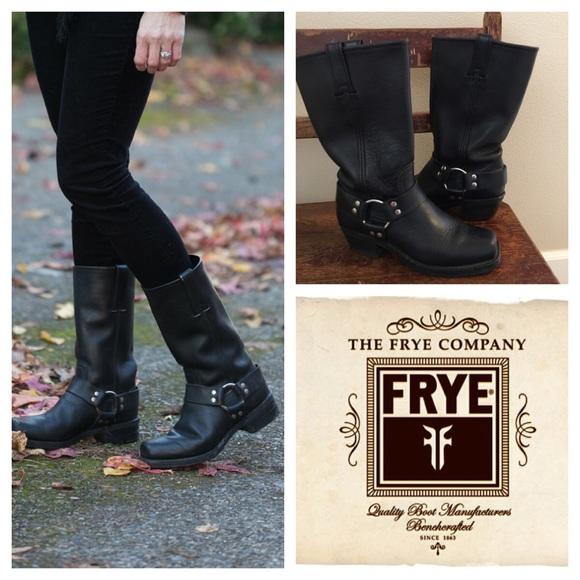 4547b0ccd1e 🎉hp 8/4🎉 Frye black Harness Boots