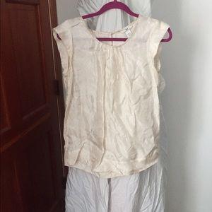 H&M offwhite paisley short slv blouse wmns sz 6 US