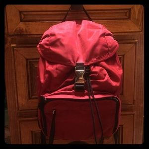 Authentic Prada backpack in red nylon