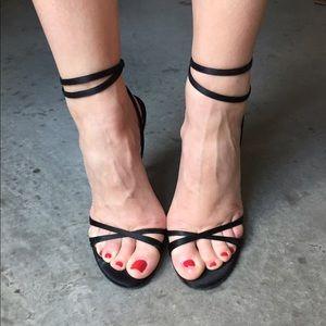 Jimmy Choo Shoes - Jimmy Choo black satin heels!!