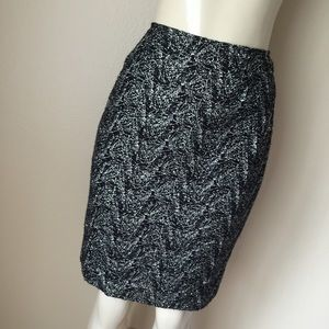 Black / Silver Pencil Skirt