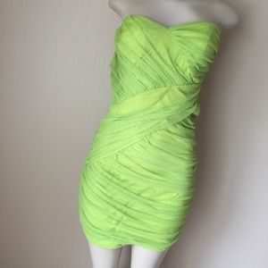 Lime Green Pearl Dress