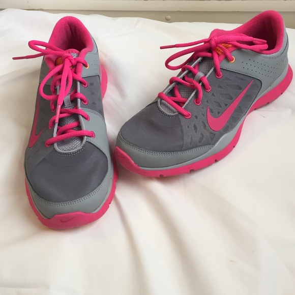 Gray And Pink Nike Training Shoes