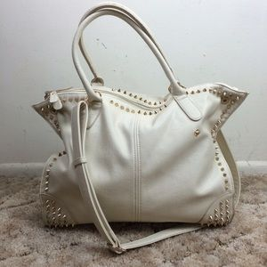 Studded Cream Handbag