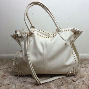 Studded Cream Handbag