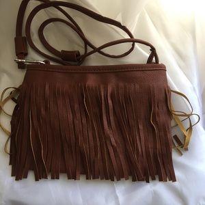 Fringe tassel shoulder handbag
