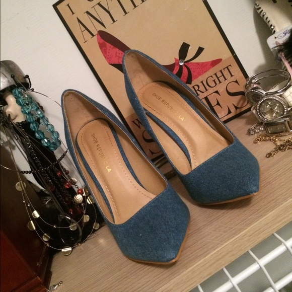 Shoe Republic La Denim Heels
