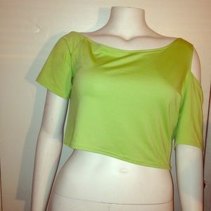  Green baby phat crop top size 2x