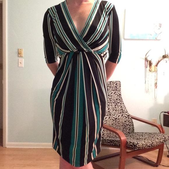 15f536f015ce0 Jessica Simpson Dresses & Skirts - Jessica Simpson black, green & white stripe  dress