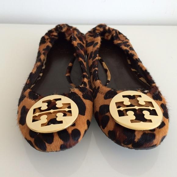 2f3cece29433 ... germany tory burch reva leopard print calf ballet flats 48ae4 c0679