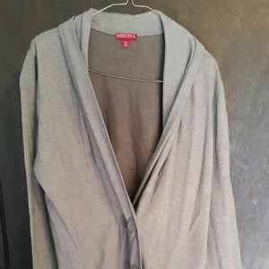 Ladies Merona brown cotton jacket, size XL. NWT