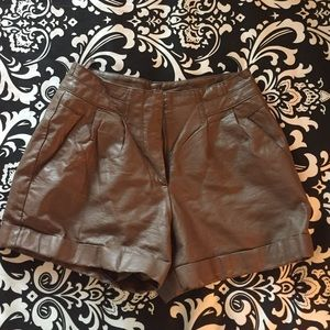 Pants - Lauren Conrad Leather Shorts