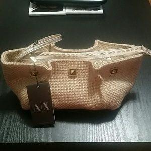 Armani Exchange Handbags - Armani burlap clutch