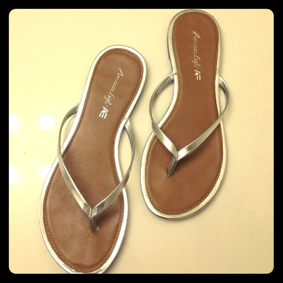 3558eb82705af2 American Eagle by Payless Shoes - 🔅SALE🔅American Eagle Silver Flip Flops