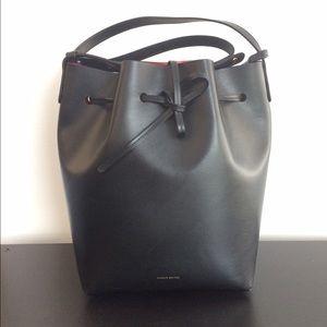 083301066376 Mansur Gavriel Bags - Mansur Gavriel Black Flamma Bucket Bag