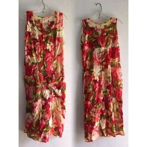 Girly Boho 90s Floral Dress