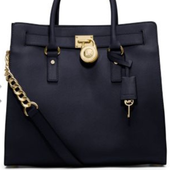 10ee3c62629d Michael Kors Bags | Large Saffiano Leather Tote Navy | Poshmark