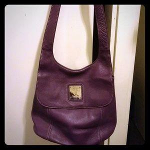 Tiganello purple leather purse