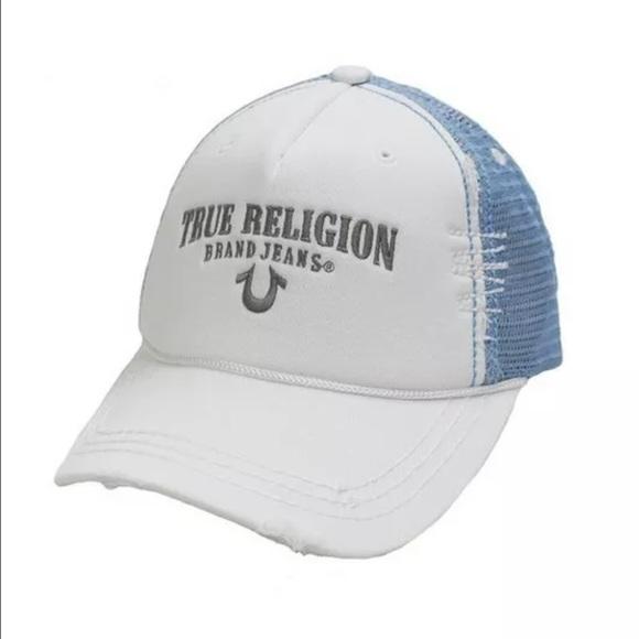 New True Religion Unisex White Hat 216d074398db