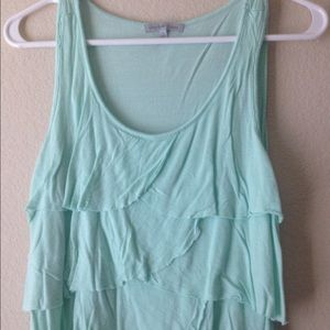 Cute ruffled top by Charlotte Russe size Sm