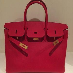 ce276fbcbb Hermes Bags - Hermes Birkin 35 Rouge Casaque Gold HDW Epsom