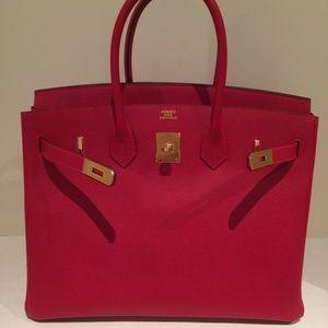 Hermes Bags - Hermes Birkin 35 Rouge Casaque Gold HDW Epsom 42a9dcf340